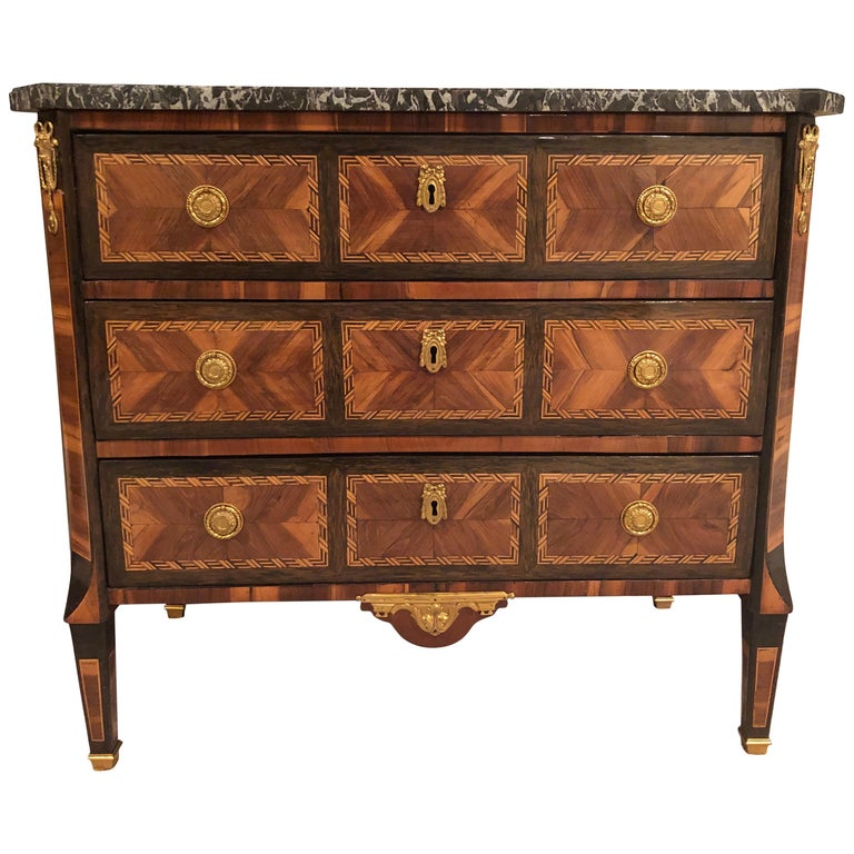 Transition Chest of Drawers, France, 1780 For Sale