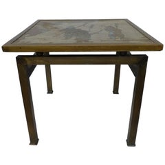 Phillip & Kelvin LaVerne Etched Bronze Side Table
