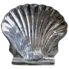 Decorative Clam Shell Bowl of Polished Aluminum