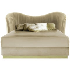 Koket Kelly King Size Bed in Velvet