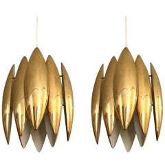 "Pair of ""Kastor"" Ceiling Lights by Jo Hammerborg for Fog & Mørup, Denmark, 1969"