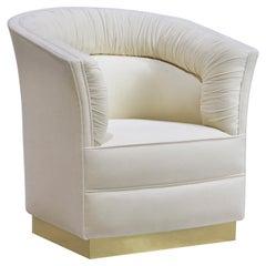 Koket schönen Stuhl in Satin