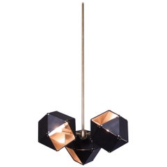 Welles Spoke Pendants in Copper and Black by Gabriel Scott