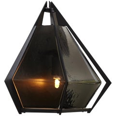 Harlow Wall Sconce in Black and Smoked Glass by Gabriel Scott
