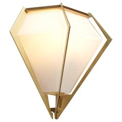 Harlow Wall Sconce in Brass and Alabaster by Gabriel Scott