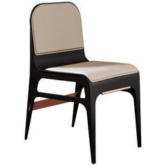 Bardot Chair in Nude and Copper by Gabriel Scott