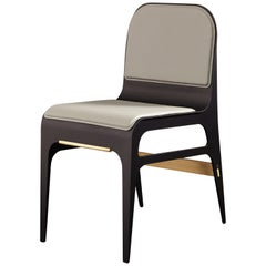 Bardot Chair in Slate and Brass by Gabriel Scott