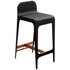 Bardot Stool in Navy and Copper by Gabriel Scott