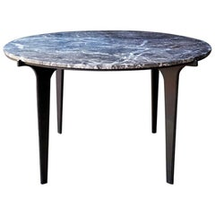 Prong Dining Table in Black and Black Marble by Gabriel Scott