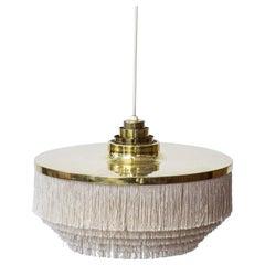 """""""Fringe"""" Ceiling lamp by Hans Agne Jakobsson, Sweden, 1960s, White"""