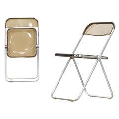 1970s Giancarlo Piretti 'Plia' Folding Chair for Castelli Set of 2