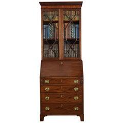 Mahogany Bureau Bookcase off Small Proportions