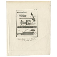 Antique Print Depicting Various Tools II by Cook, 1803