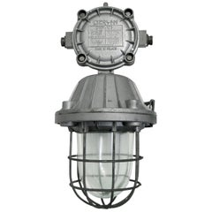 Cast Aluminium Vintage Industrial Clear Glass Cage Hanging Lamps