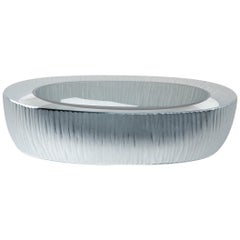 Yali Murano Hand Blown and Engraved Kasa Vide Poche Grey