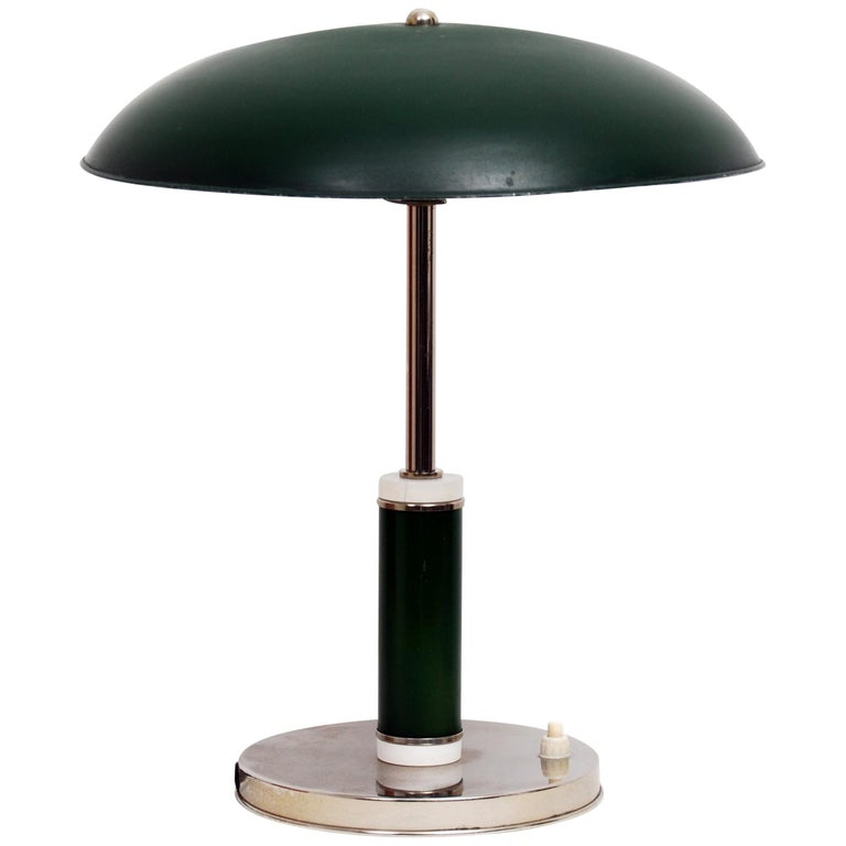 Vintage hand painted Art Deco uplight lamp