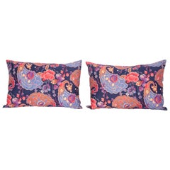 Pillow Cases Fashioned from Mid-20th Century Russian Printed Cotton
