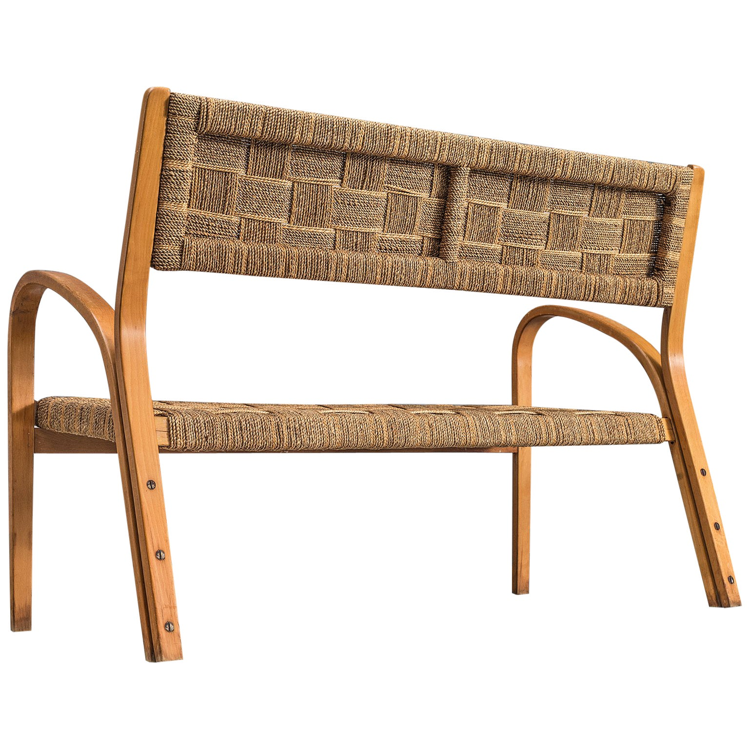 Giuseppe Pagano Attributed Roped Sofa, 1940s
