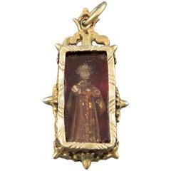 Devotional Pendant, Silver, Glass, Bone, 17th Century