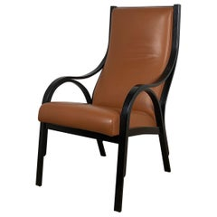 Frau Cavour Tobacco Leather Armchair