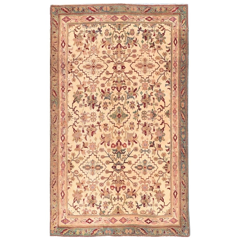 Antique Indian Agra Rug For Sale At 1stdibs: Antique Handmade Agra Indian Rug For Sale At 1stdibs