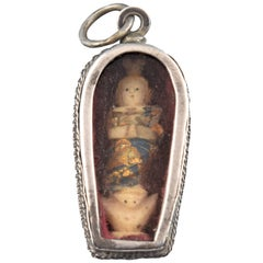 Devotional Pendant, Silver, Bone, Glass, Other, 17th Century