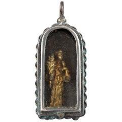 Devotional Pendant, Silver, Glass, 17th Century