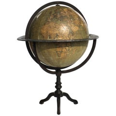 Early 1900s by Guido Cora Italian Antique Terrestrial Globe
