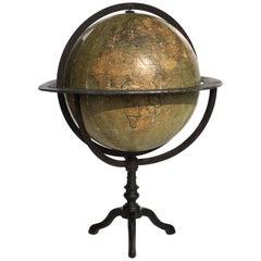 Early 1900s by Guido Cora Italian Antique Terrestrial Globe