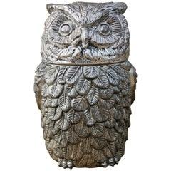 1960s Mauro Manetti Italian Owl Design Ice Bucket