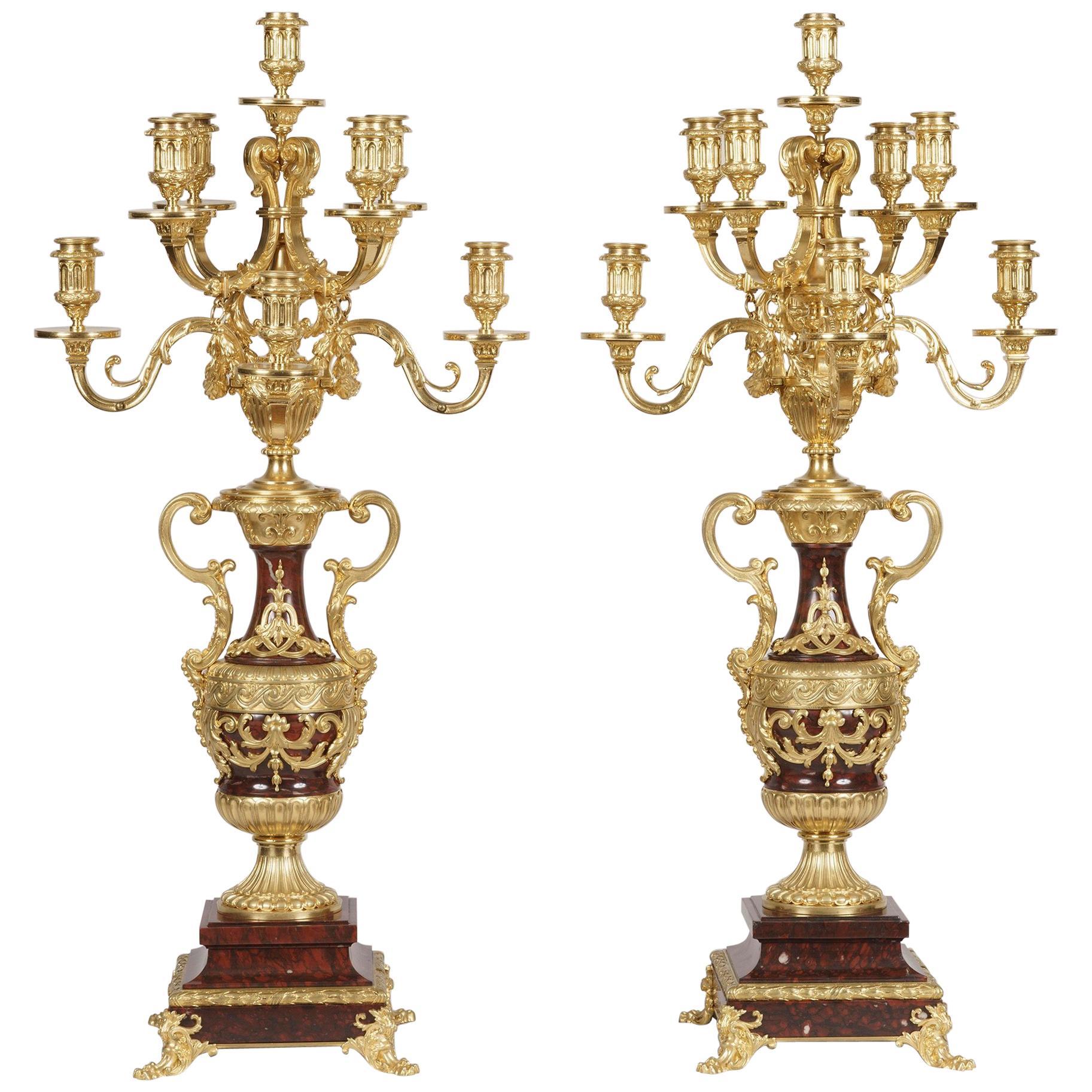 19th Century Pair of Louis XVI Style Candelabra