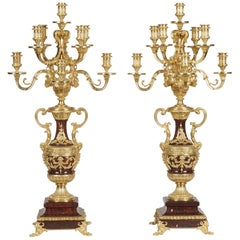 19th Century Pair of Louis XVI Style Candelabra