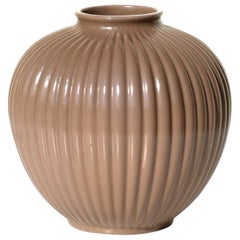 1930s by Giovanni Gariboldi for San Cristoforo Ginori Pottery Art Deco Vase