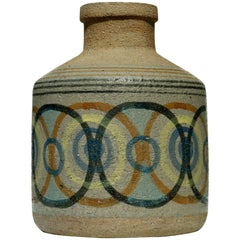 1960s by Bitossi Raymor Aldo Londi Italian Ceramic Vase
