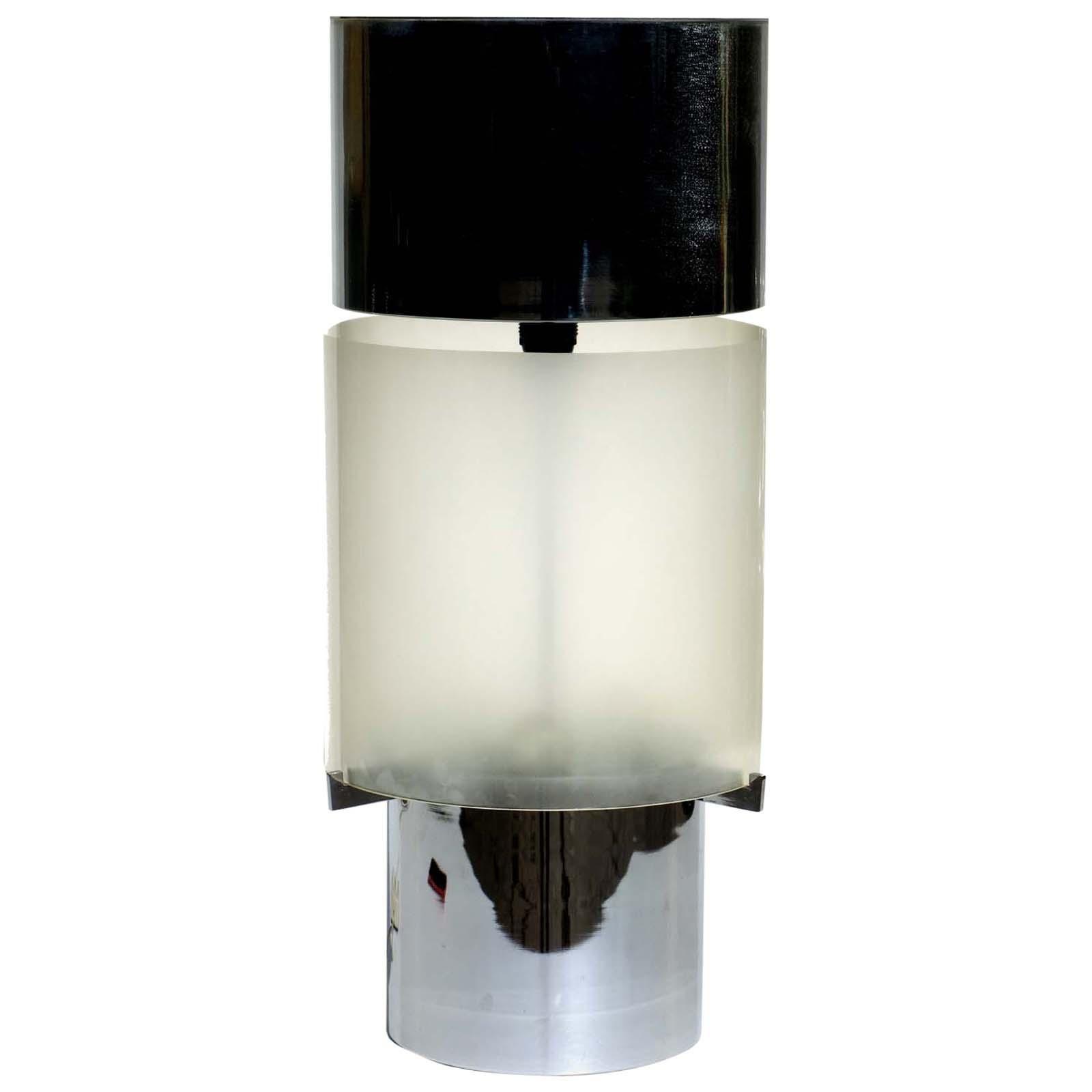 1970s Space Age Design Italian Chrome Table Lamp