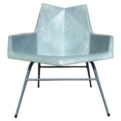 Rare Baby Blue Paul McCobb Fiberglass Lounge Chair