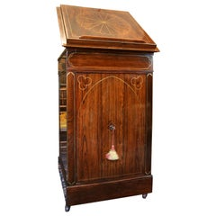 Antique Regency Rosewood Music Cabinet