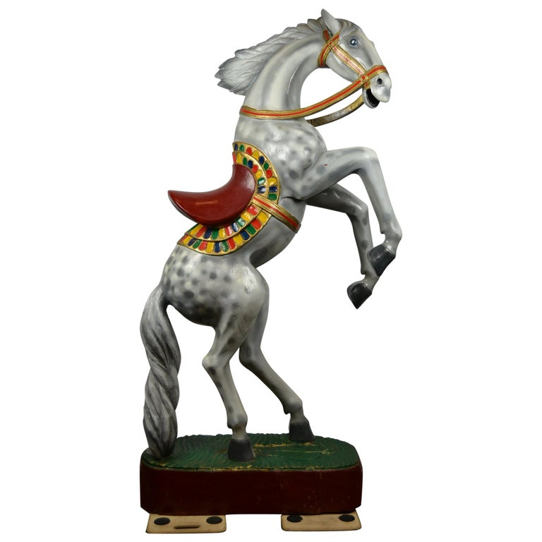 Giant Vintage Wooden Horse Sculpture, USA, 1950s For Sale
