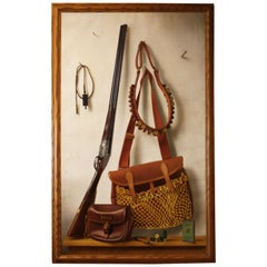 Trompe L'oeil Painting 'Holland & Holland Shotgun' by W J M Clayton