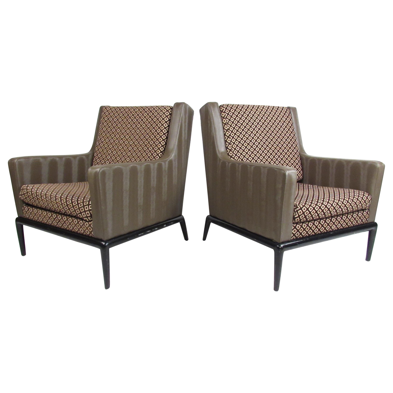 Pair of Mid-Century Robsjohn Gibbings Style Lounge Chairs
