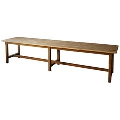 19th Century Pine Refectory Table