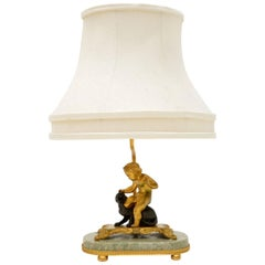 Antique French Gilt Bronze Table Lamp
