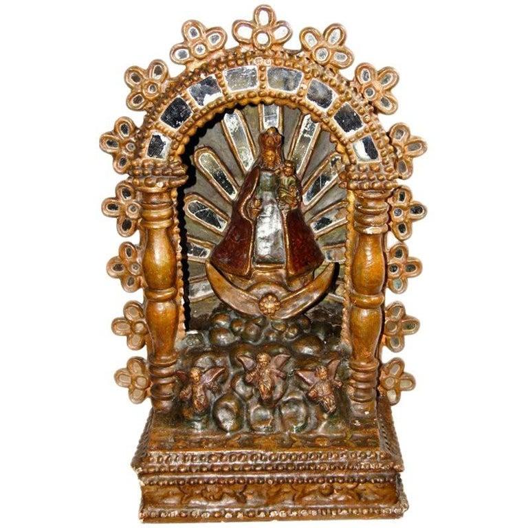 Spanish Colonial Altar, Santos