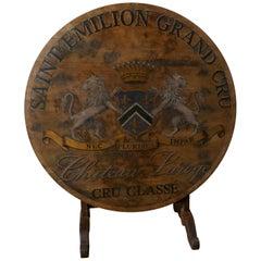 19tes Jahrhundert Französisch Weinberg Wein Tisch von Chateau Laroge, Saint Emilion