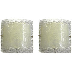Italian Modern Glass Sconces