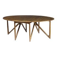 Kurt Østervig for Jason Møbelfabrik, 'Eva' Drop-Leaf Teak Table, circa 1960