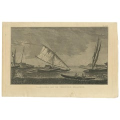 Antique Print of Various Vessels of the Friendly Islands by Cook, 1803