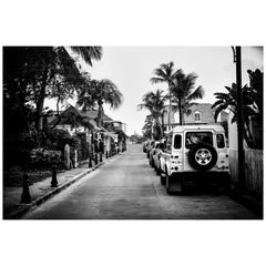 Land Rover Defender Black and White Photography 'St. Barth'