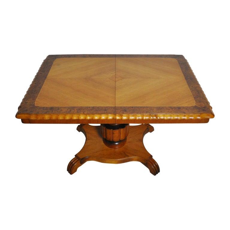 Swedish Art Deco Golden Elm Table, circa 1930 For Sale