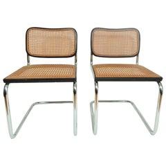Marcel Breuer Black Cesca Chairs Knoll Gavina
